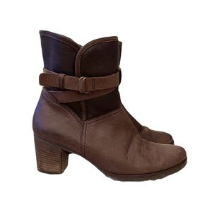 Gabor Brown Leather Sherpa Lined Winter Booties